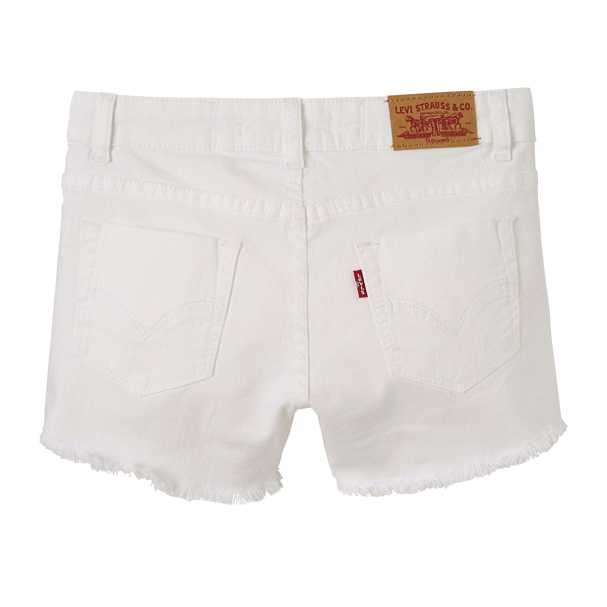 Levi's Girls White Distressed Shorts