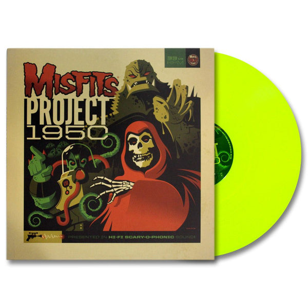 "Misfits ""Project 1950"" (Expanded Edition) LP, Fluorescent Yellow Vinyl w/ download card - Misfits Records - 1"