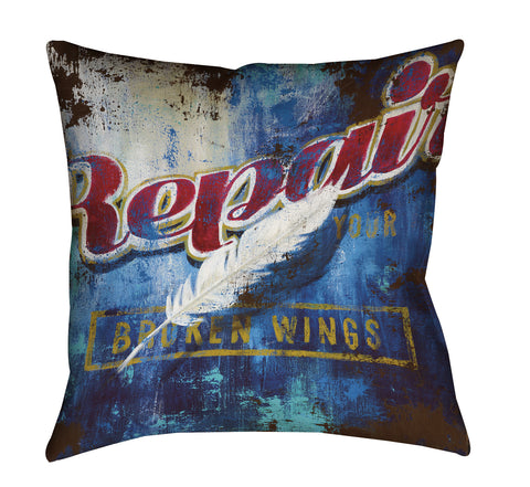 """Broken Wings"" Outdoor Throw Pillow"