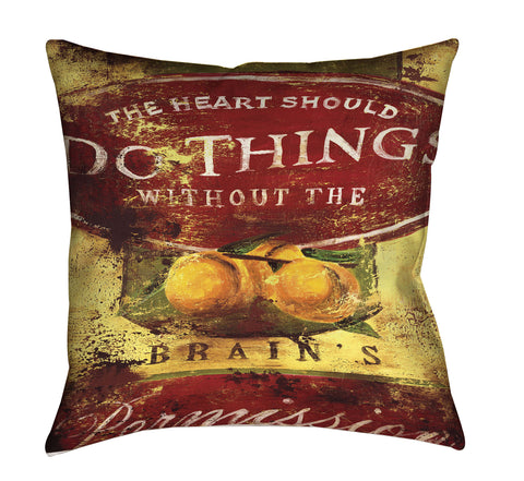 """Brain's Permission"" Outdoor Throw Pillow"