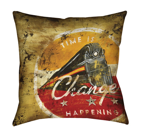"""Change Happening"" Outdoor Throw Pillow"
