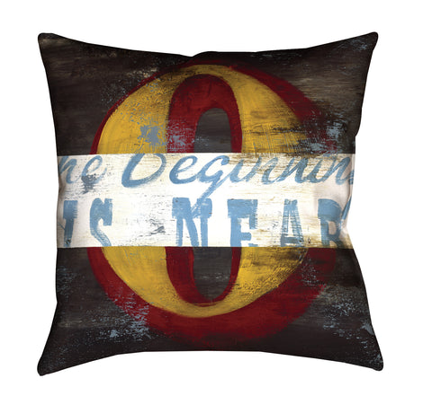 """0: The Beginning Is Near"" Outdoor Throw Pillow"