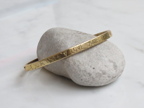 LOVE YOUR TRIBE BANGLE GOLDEN