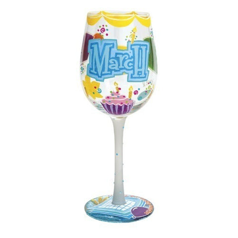 Lolita Months of the Year Wine Glasses - Time Your Gift - 15