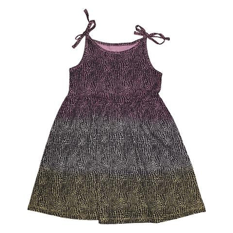 Tie Dye Alligator Print Dress in Lilac