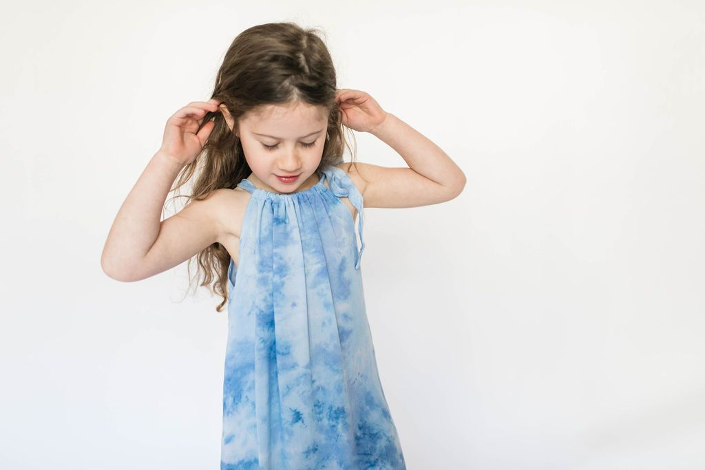 Haylie Dress in Seaglass