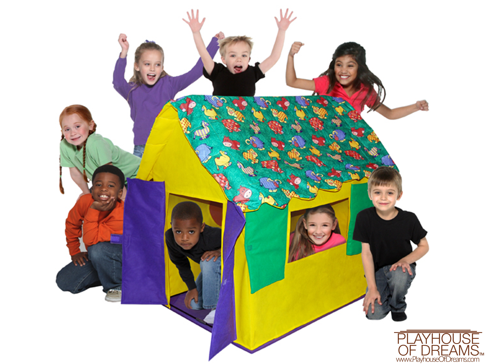 Bazoongi Kid's Cottages Stuffed Animal Roof - Playhouse of Dreams  - 1