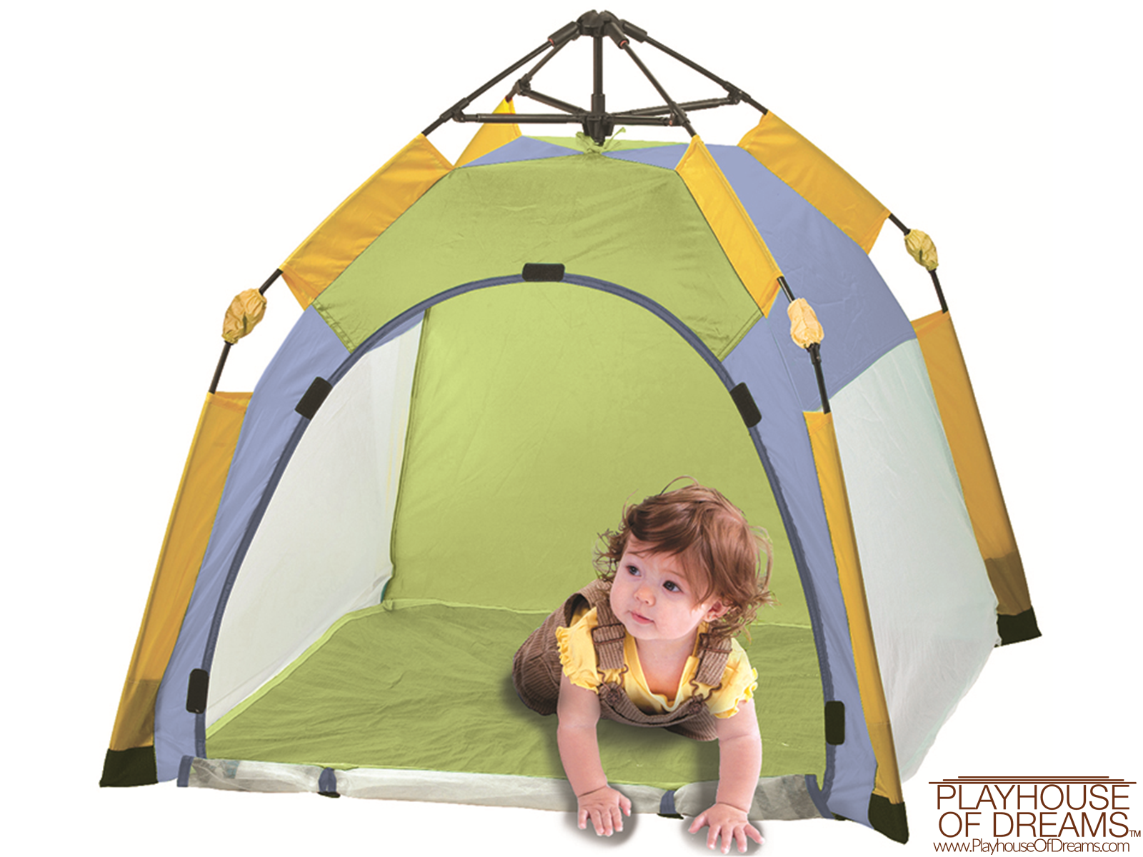 One Touch® Play Tent -  Age Up to 2 Years - Pacific Play Tent - Playhouse of Dreams  - 1