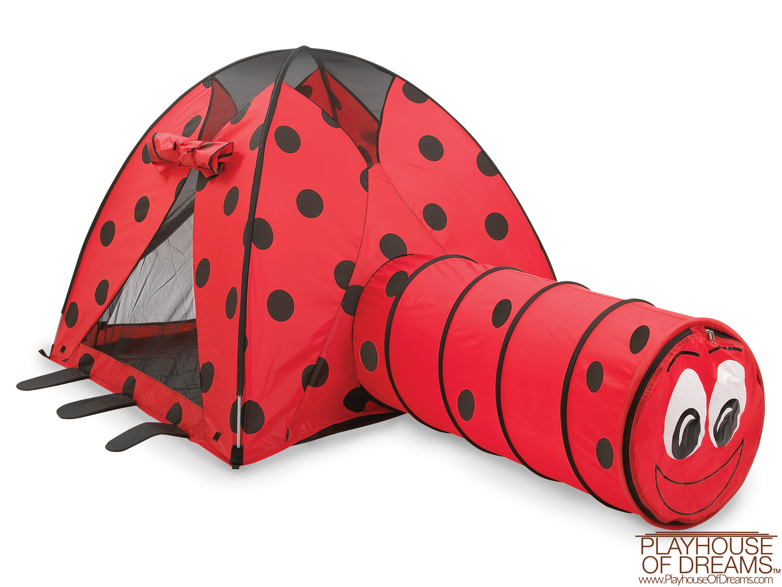 Ladybug Tent & Tunnel Combination - Pacific Play Tent - Playhouse of Dreams  - 2