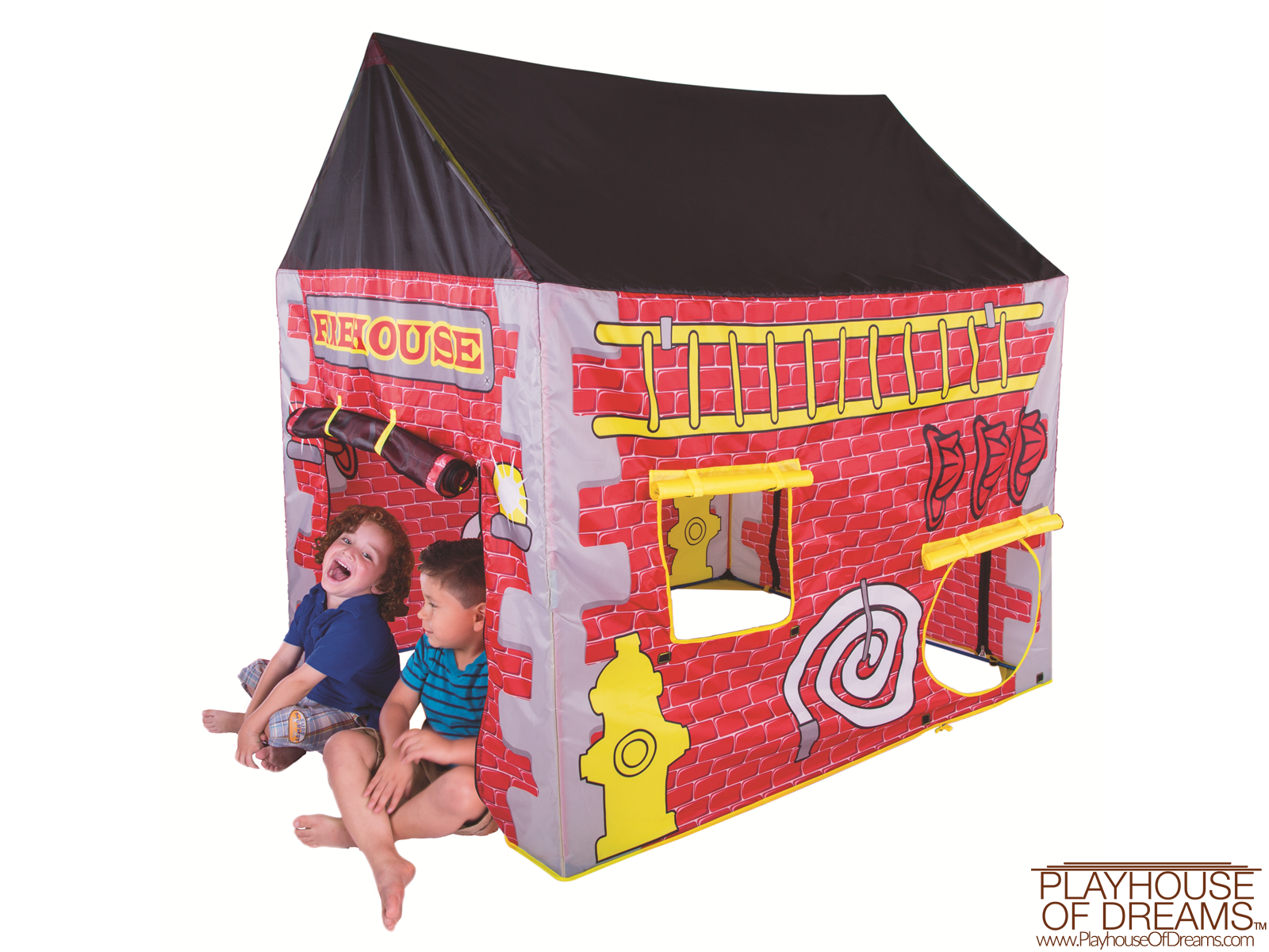 FireHouse - House Tent - Pacific Play Tent - Playhouse of Dreams