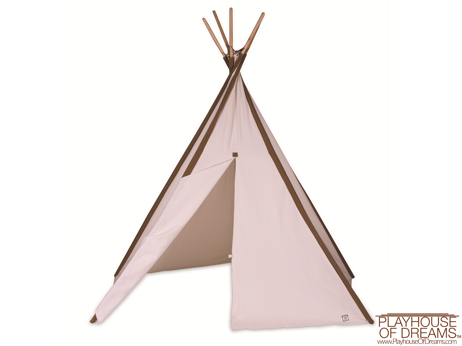 Giant Cotton Canvas 8' Tee Pee - Pacific Play Tent - Playhouse of Dreams  - 1
