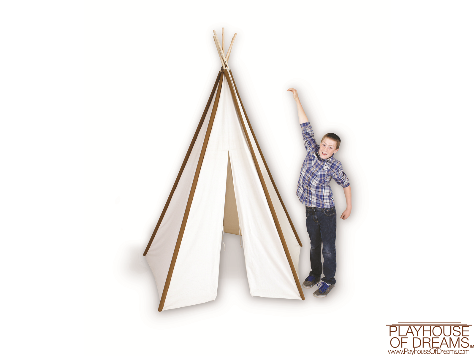Giant Cotton Canvas 8' Tee Pee - Pacific Play Tent - Playhouse of Dreams  - 5