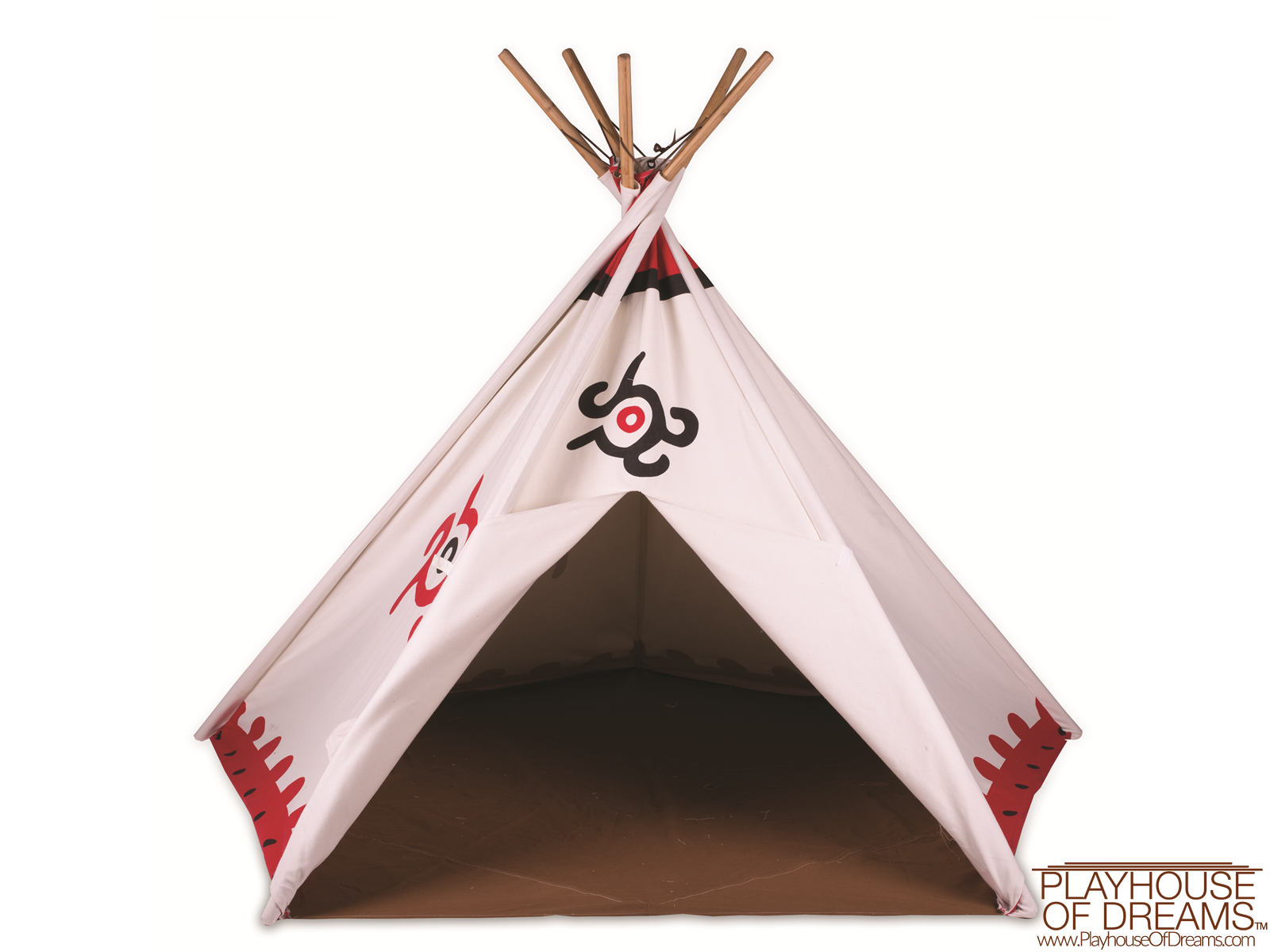 Southwest Cotton Canvas Tee Pee - Pacific Play Tent - Playhouse of Dreams  - 1