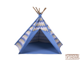 Striation Blue Tee Pee - Pacific Play Tent - Playhouse of Dreams  - 2