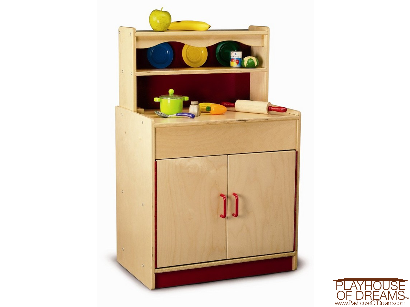 Preschool Hutch Cabinet - Playhouse of Dreams  - 1