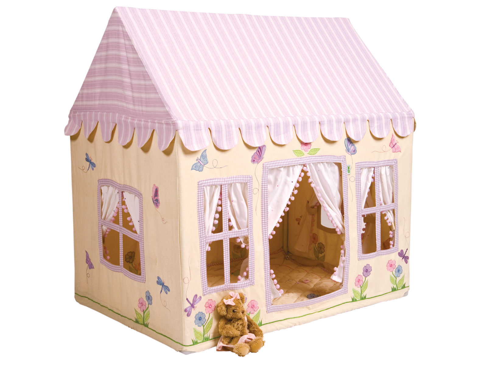 Win Green Handmade Cotton Butterfly Cottage Playhouse - Playhouse of Dreams  - 1