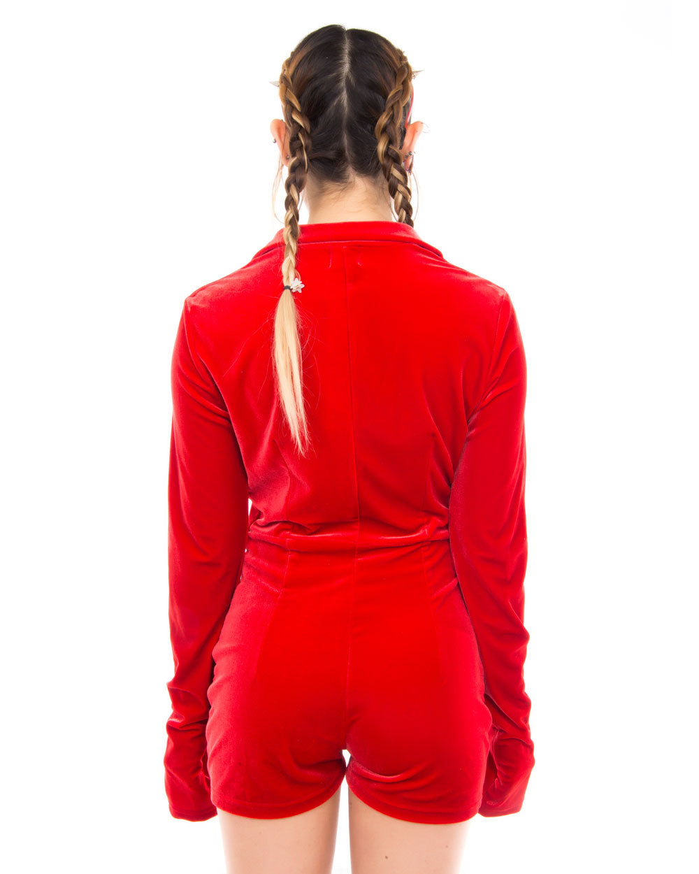 MAD RED VELVET BODYSUIT