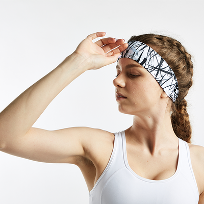 Dry Wide Headband for Sports- Branches Print