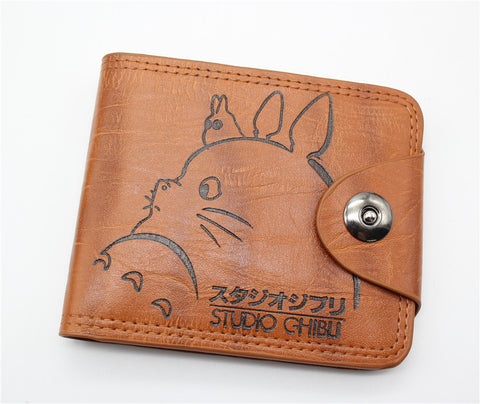 Leather My Neighbor Totoro Billfold Wallet