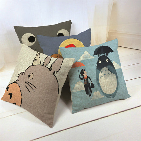 My Neighbor Totoro Cotton Linen Cushion Cover