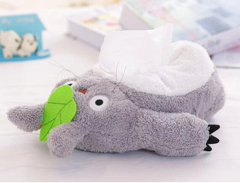 Totoro Laying Down Tissue Box Cover Holder