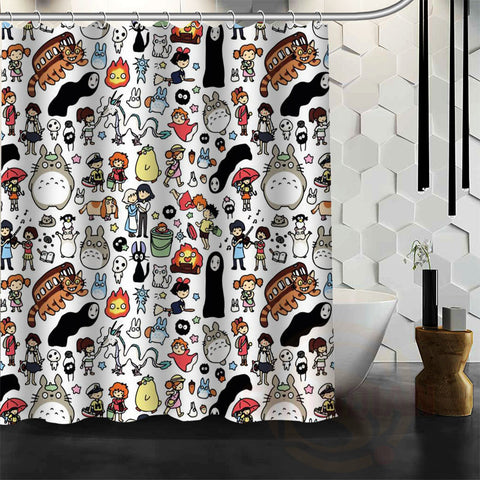 Totoro and Friends Shower Curtain Multiple Variations