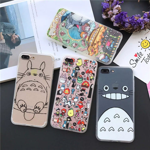 Cute Totoro Hard Case for iPhones 5/6/7/8 s/Plus