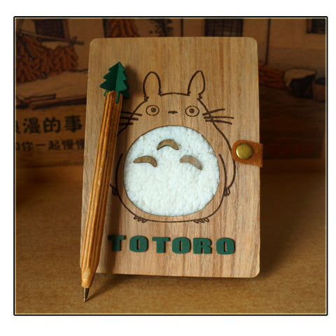 Totoro Wooden Notebook/Diary
