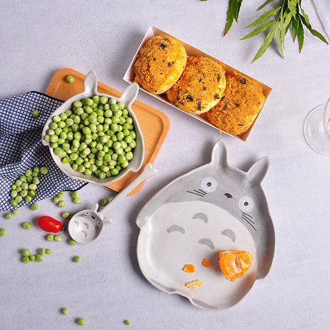 Hand Painted Totoro Ceramic Tableware