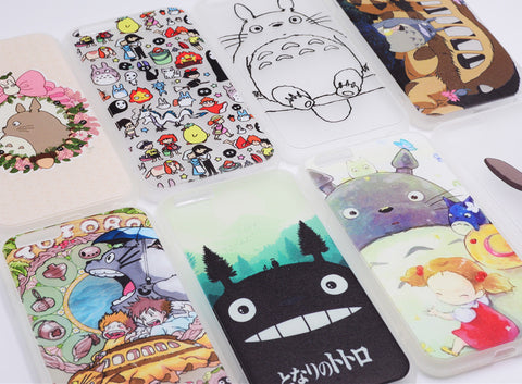 HOT Totoro Clear White Shell Cover for iPhone 5/6/7 Plus
