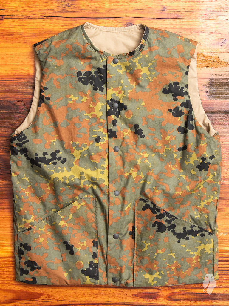 Reversible Insulated Vest in German Camouflage