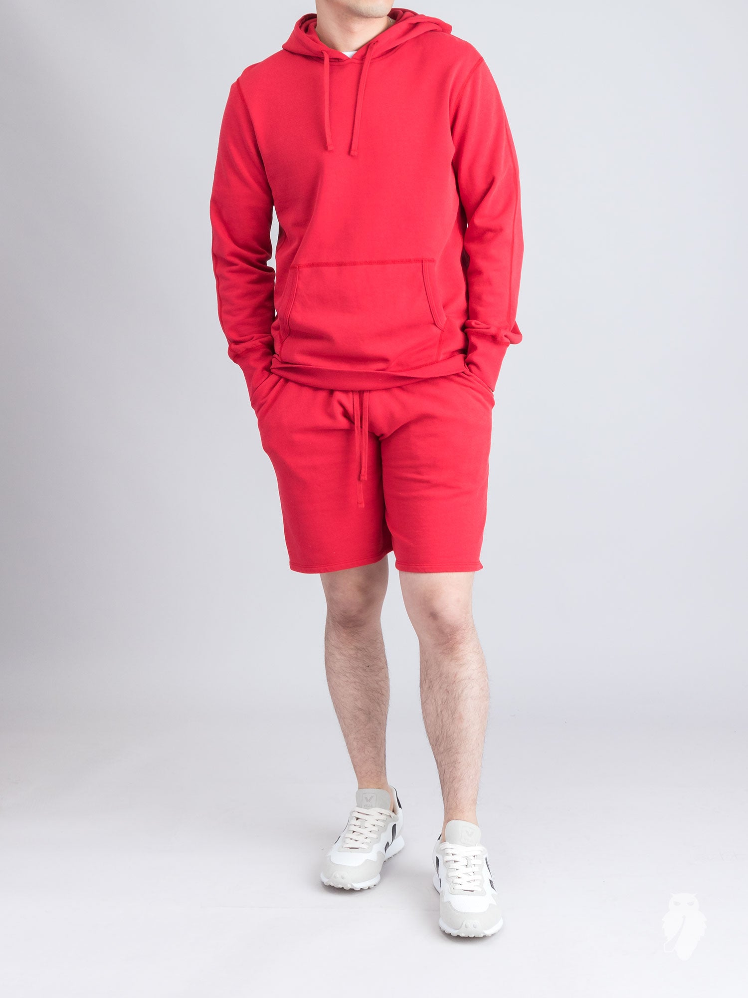 Lightweight Pullover Hoodie in Red