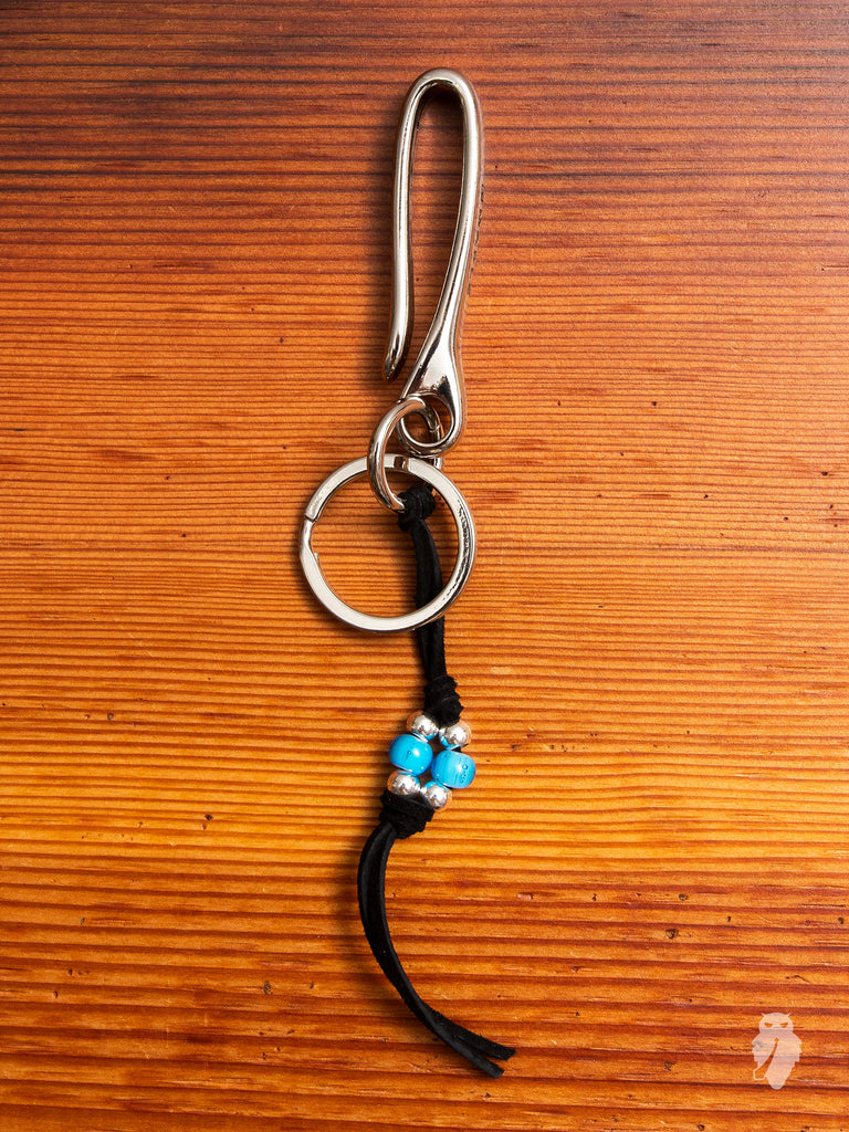 Long Tails Key Hook in Black/Turquoise