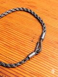Rope Chain Bracelet in Blackened Silver