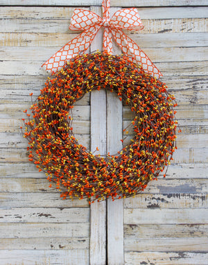Orange & Yellow Pip Berry Wreath