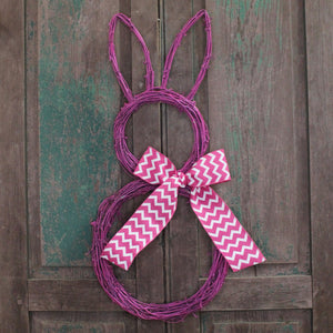 Colored Bunny Easter Wreath