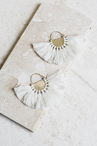 Favorite Fringe Earrings- Ivory