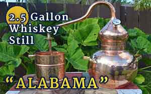 "2.5-Gallon Whiskey Still ""Alabama"""