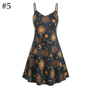 5 Colors Sunflower Moon Gallus Dress SP14002