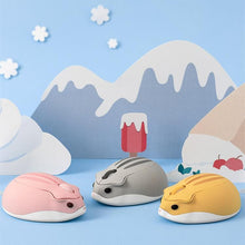 Load image into Gallery viewer, Pink/Yellow/Grey Kawaii Hamster Wireless Mouse SP14008