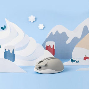 Pink/Yellow/Grey Kawaii Hamster Wireless Mouse SP14008