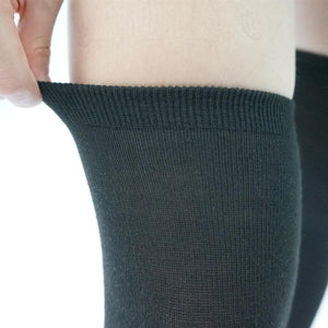 [3 For 2] Black/White  Knitting Over Knee Long Socks SP151625 - SpreePicky  - 4