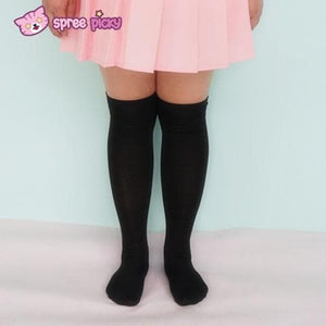 [3 For 2] Black/White  Knitting Over Knee Long Socks SP151625 - SpreePicky  - 5