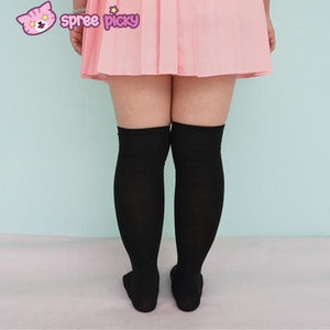 [3 For 2] Black/White  Knitting Over Knee Long Socks SP151625 - SpreePicky  - 6