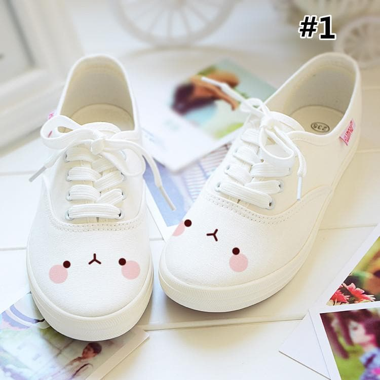 Kawaii Emoji Printing Canvas Shoes SP167951