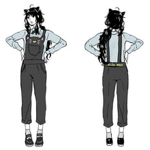Load image into Gallery viewer, S-XL Sailor Moon Luna Black Cat Suspender Overalls Pants SP165349
