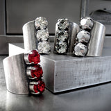 Tomboy Trio Crystal Ring - Swarovski Crystal Silver Shade