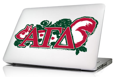 Alpha Gamma Delta <br>11.75 x 5.5 Laptop Skin/Wall Decal