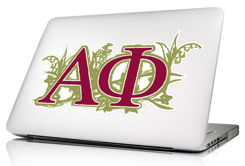 Alpha Phi <br>9.5 x 4.5 Laptop Skin/Wall Decal