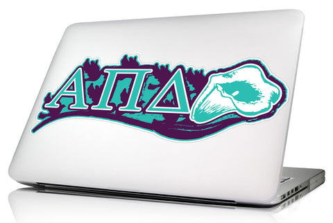 Alpha Pi Delta <br>11.75 x 3.5  Laptop Skin/Wall Decal